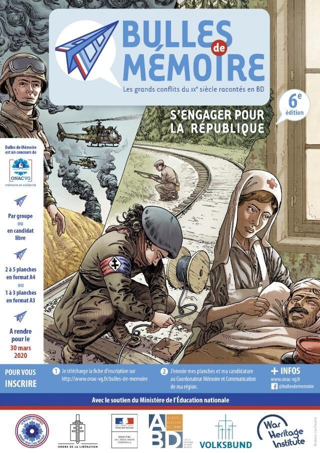 Affiche du concours Bulles de mémoire édition 2020